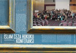 İslam Ceza Hukuku Konferansı - Adalet ve Medeniyet Dergisi