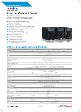 Informer Compact Serisi
