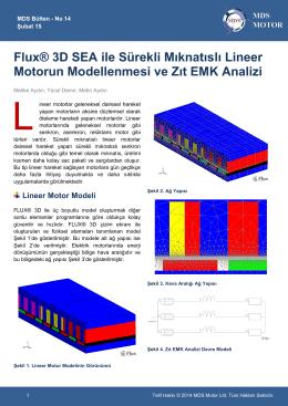Flux® 3D SEA ile Sürekli Mıknatıslı Lineer Motorun