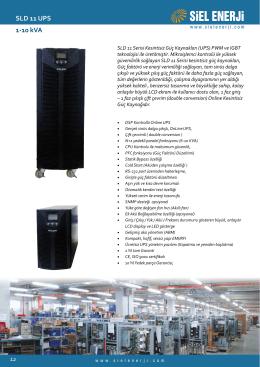 SLD 11 UPS 1-10 kVA
