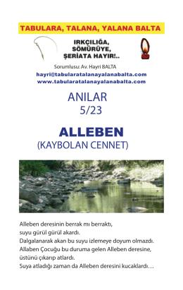 Alleben (Kaybolan Cennet) - Tabulara, Talana, Yalana Balta