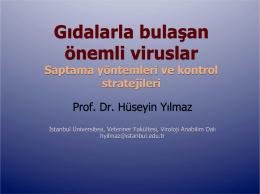 HUSEYIN YILMAZ-Gıdalar ile Bulaşan Önemli Virüsler