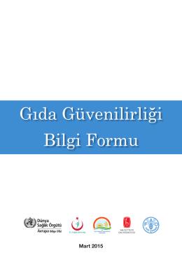 Gıda Güvenilirliği Bilgi Formu - Hacettepe Üniversitesi Halk Sağlığı