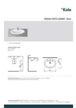 TEZGAH ÜSTÜ LAVABO / 52cm
