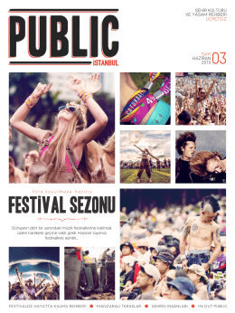 FESTİVAL SEZONU - The Public Hotel