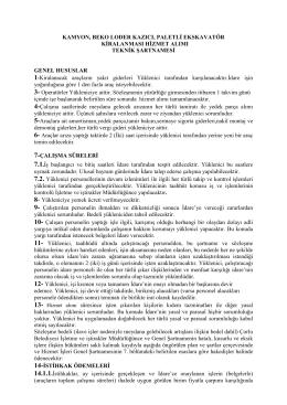 Teknik_Sartname - Çorlu Belediyesi
