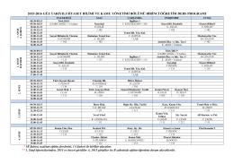 2013-2014 güz yarıyılı işletme bölümü normal öğretim ders çizelgesi