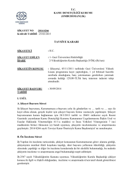 Dosya No: 2014/4266 - Harç Ücreti Yatırmaması Gerekirken