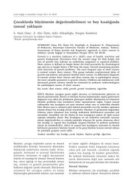 PDF - Çocuk Sağlığı ve Hastalıkları Dergisi