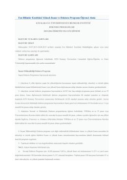 başvuru koşulları - Konya Mimarlar Odası