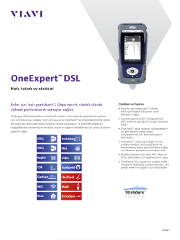 OneExpert™ DSL - Viavi Solutions Inc.
