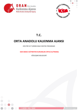 Kültür ve Turizm MDP Sözleşme Belgeleri