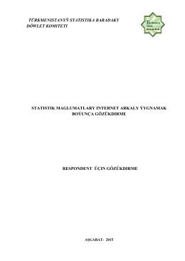 türkmenistanyň statistika baradaky döwlet komiteti statistik