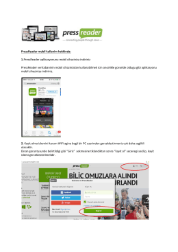 PressReader mobil kullanim hakkinda: 1.PressReader