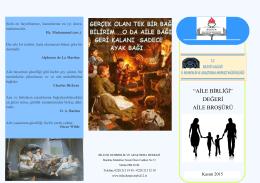 """""""aile birliği"""" değeri aile broşürü - Malhun Hatun İlkokulu"""