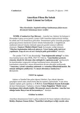 6.Filo İzmir`e Giriyor 1968