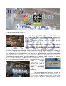2015522WTM Latin Amerika 2015 Fuarı Sonuç Raporu