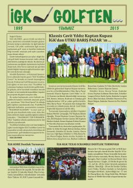 FROM IGK GOLF - İstanbul Golf Kulübü