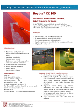 CK100 - Boytorun Kimya Sanayi AS