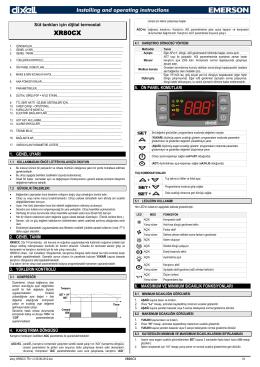 XR80CX Kullanma Kılavuzu - Alroy İklimlendirme ve Otomasyon