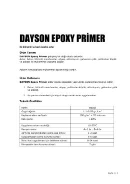 DAYSON EPOXY PRİMER - Dayson Group`a Hoşgeldiniz