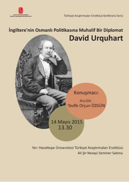 David Urquhart - Türkiyat Araştırmaları Enstitüsü