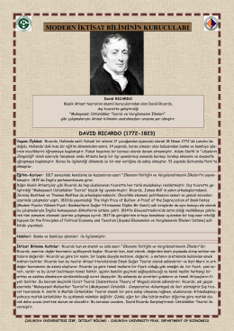 David Ricardo - CU Department of Economics