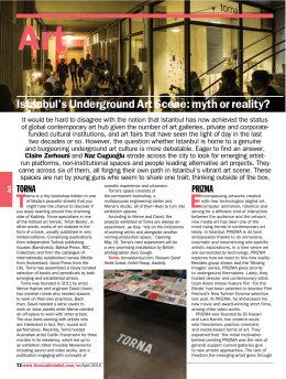 """Istanbul`s Underground Art Scene: myth or reality?,"" Time Out"
