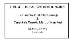 tfbd 41. ulusal fizyoloji kongresi