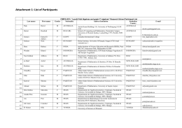 Attachment 1: List of Participants