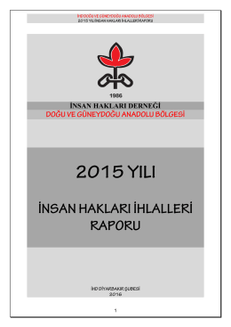 2015 yılı bölge hak ihlalleri raporu bilançosu