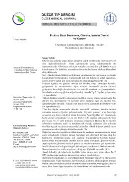 Article 21 - Düzce Üniversitesi Tıp Fakültesi Dergisi