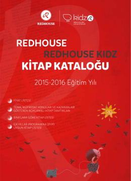 Redhouse & Redhouse Kidz Kitap Kataloğu 2015