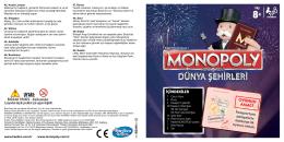 Hasbro Oyunlar Monopoly Dünya Şehirleri Instructions