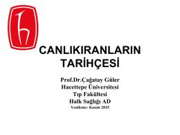 Prof. Dr. Çağatay GÜLER