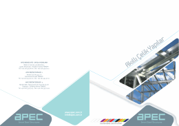 Dijital Katalog - APEC Çelik Yapı Sistemleri A.Ş.