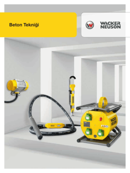 Beton Tekniği - Wacker Neuson