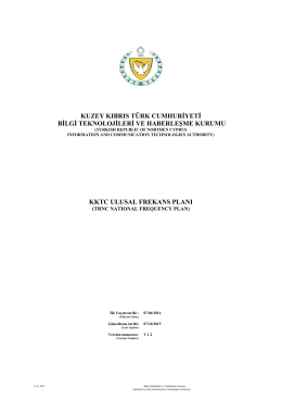 KKTC Ulusal Frekans Planı