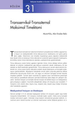 Bölüm 31 - Transservikal-Transsternal Maksimal Timektomi
