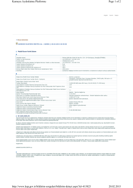 Page 1 of 2 Kamuyu Aydınlatma Platformu 20.02.2015 http://www