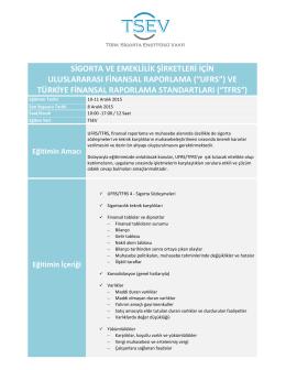 Sigortacılar için UFRS/TFRS