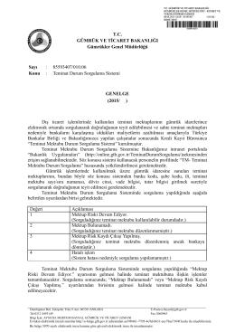Teminat Durum Sorgulama Sistemi - T.C. Gümrük ve Ticaret Bakanlığı