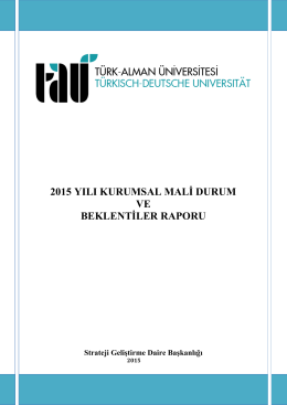 Kurumsal Mali Durum ve Beklenti Raporu - Türk