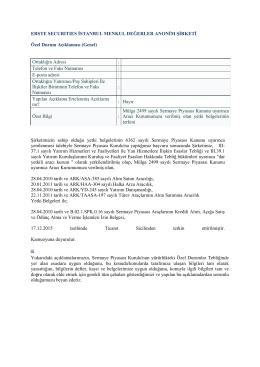Ortaklığın Adresi - Erste Securities İstanbul