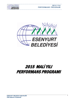 2015 mali yılı performans programı