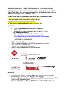 5 Sayfa PDF Konferans Program