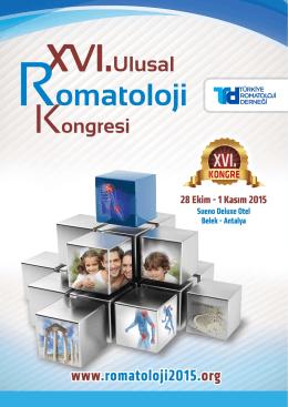 kayıt - konaklama - transfer - 16. Ulusal Romatoloji Kongresi