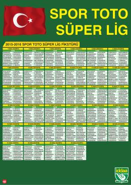 2015-2016 SPOR TOTO SÜPER LİG FİKSTÜRÜ