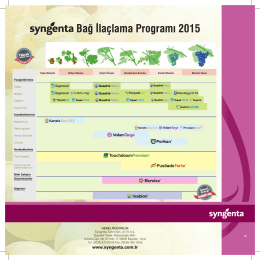 Bağ İlaçlama Programı 2015