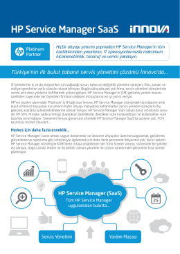 HP Service Manager SaaS